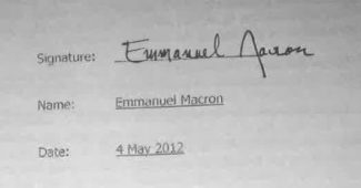 signature compte bahamas macron