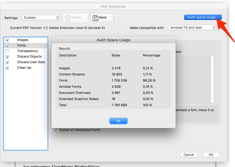 Taille de fichier PDF